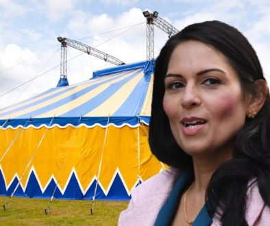 PRITI PATEL TO QUIT POLITICS AND JOIN CIRCUS AS A C*NT